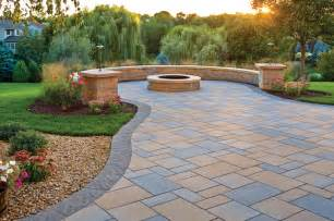Concrete Block Deck by Picturesque Patio Paver Patio Fire Pit And Curved Seat