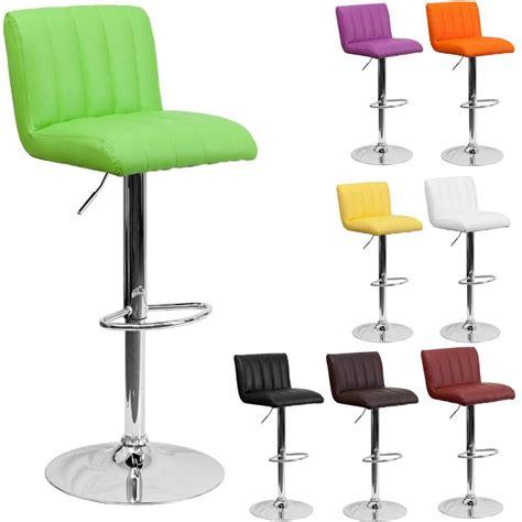stylish retro adjustable height metal bar stool swivel