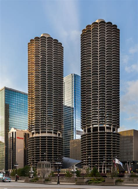 Chicago River Boat Parking by Marina City