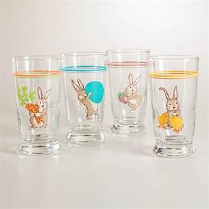 Bunny Juice Glasses, Set of 4 World Market