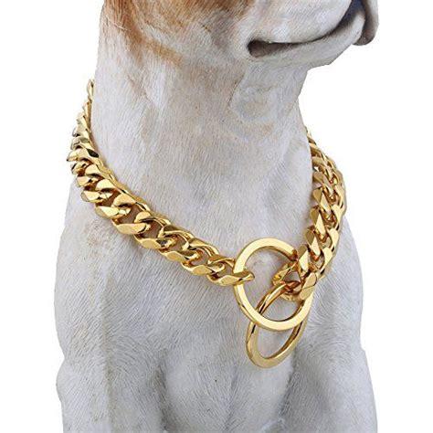 gold tone designer dog collar mm wide fancy metal slip