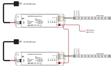 Wire Diagram 24v Driver by 4 Channels Constant Voltage 100w Knx Led Dimming Actuator