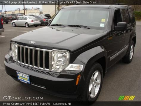 black jeep liberty interior brilliant black crystal pearl 2009 jeep liberty limited