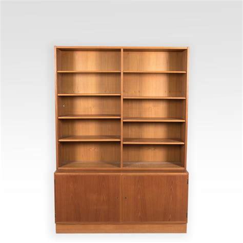 bookshelf with cabinet base hundevad teak bookcase w cabinet base signed