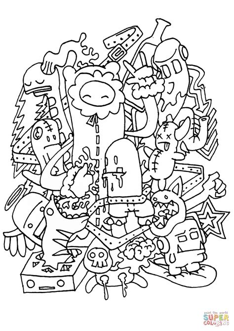 anime terbaik per musim doodle rocking coloring page from doodle category