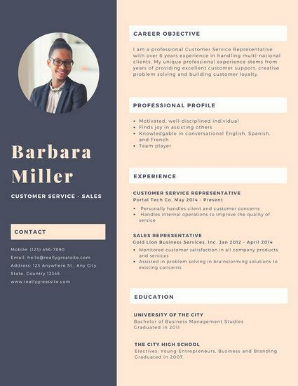 Canevas Cv by Purple Photo Customer Service Resume