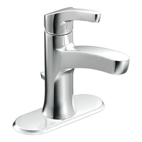 moen bathroom sink faucets moen danika chrome 1 handle single hole 4 in centerset