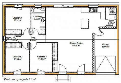 plan de maison 100m2 3 chambres chambre plan maison plain pied 3 chambres gratuit high