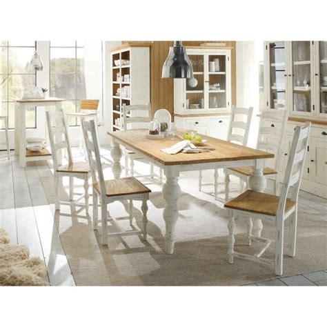 cuisine ikea blanc laqué table 200x100 et 6 chaises landhaus en bois mindi blanc et