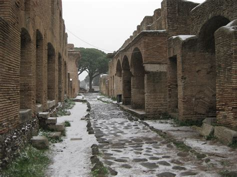 ex port de rome ostia antica in the snow d a r i u s a r y a d i g s