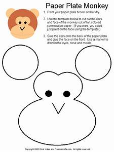 paper plate monkey template animals pinterest monkey With sock monkey face template