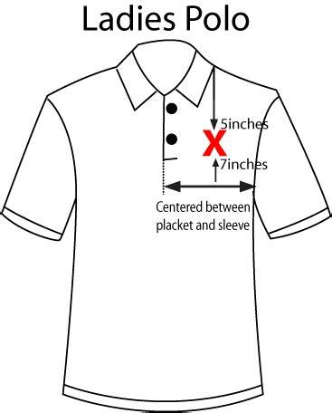 left chest logo placement template garment locations