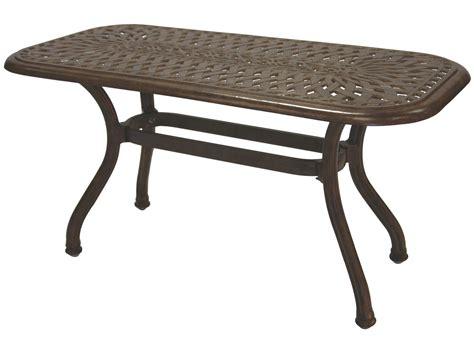 cast aluminum patio table darlee outdoor living series 60 cast aluminum 42 x 21