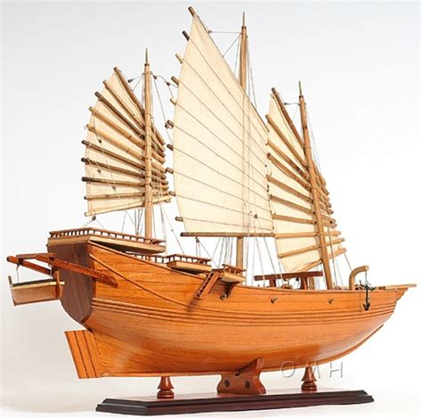 chinese junk omh handcrafted model exploration ships