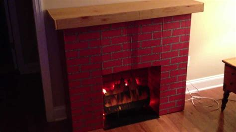 vintage retro faux brick christmas fireplace