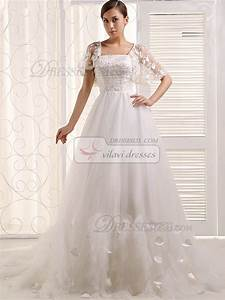 tulle lotus leaf sleeve lace wedding dresses 36wdtu6648 With wedding dress cover up arms