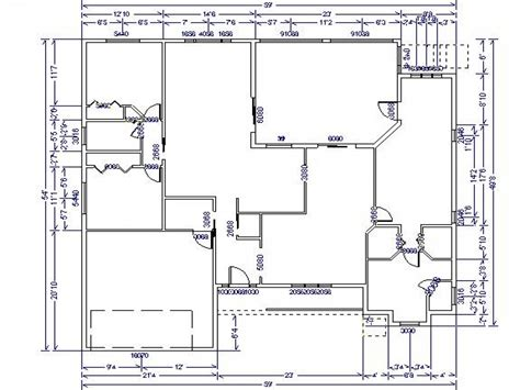 ranch floor plans open concept single floor house plans house floor plan with dimensions