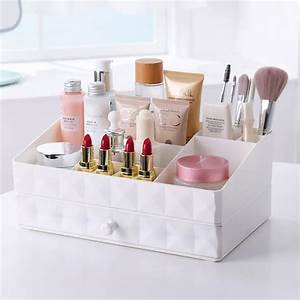 Rangement De Maquillage : organiseur rangement maquillage tiroir 2 compartiments pour cosm tiques pour salle de bain ~ Melissatoandfro.com Idées de Décoration
