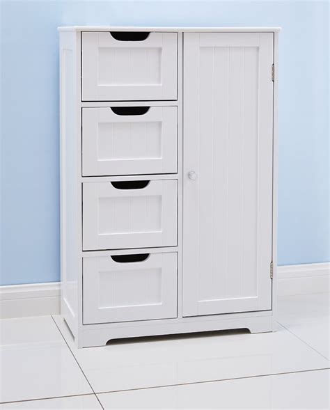 kitchen cart and islands white bathroom floor cabinet freestanding with 4 drawers