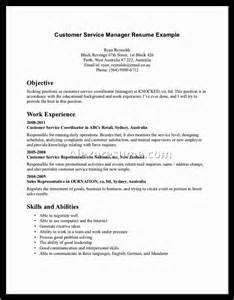 career objective exles for customer service manager objectives in resume exles