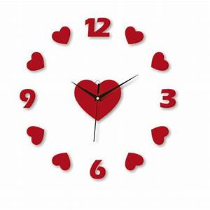 Online Buy Wholesale Heart Shaped Clock From China Heart