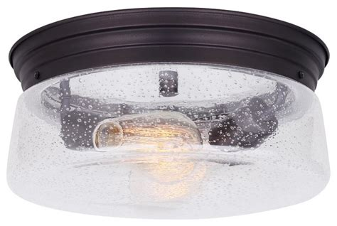 flush mount ceiling light seeded glass canarm mill 1 light flush mount seeded glass oil rubbed