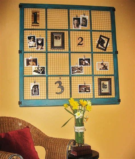 Old Window Frame Bulletin Board