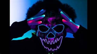 Mask Led Neon Halloween El Wire Gloves