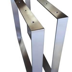 tischbeine design 2 set design tischkufen tischbeine edelstahl tischfüße tischgestell höhe 720mm stahl moor design