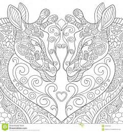 Printable Adult Coloring Pages Giraffe