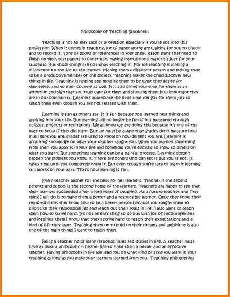 teaching philosophy template 9 teaching philosophy statement exles statement 2017