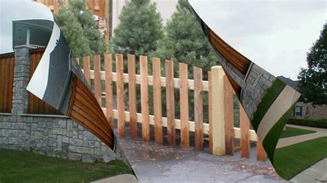 desain pagar kayu sederhana  unik rumah minimalis part