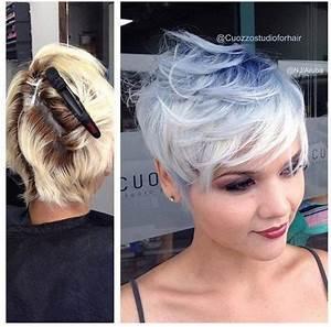 Coloration Cheveux Court : couleurs cheveux courts un top 20 coiffure simple et facile ~ Melissatoandfro.com Idées de Décoration