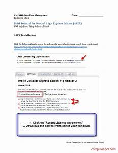 Pdf  Oracle 11g Express Installation Guide Free Tutorial