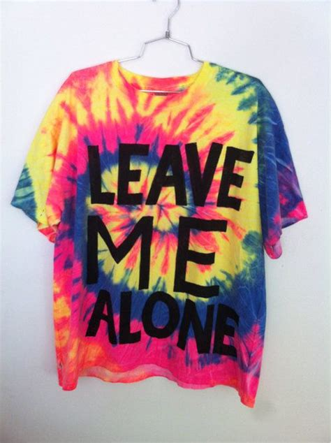 Yard666sale Leave Me Alone Tie Dye T Shirt Yard666sale