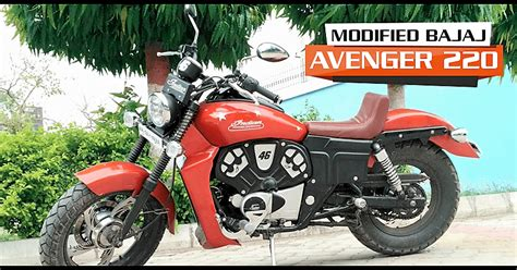 bajaj avenger 220 modified to look like an indian scout