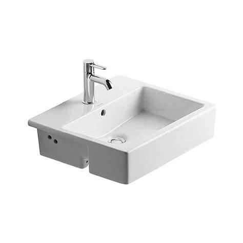 duravit vero basin no tap duravit vero 550x470mm 1 tap semi recessed basin