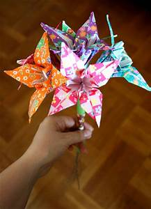 Origami Flowers Folding Instructions
