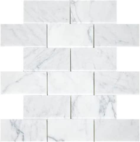7 00sf statuary carrara marble subway tiles