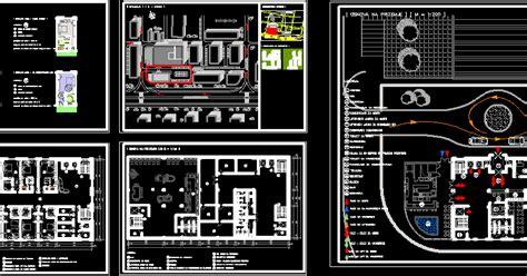 engineering  architecture plan autocad hotelpiscine en dwg
