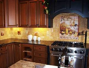 tips on bringing tuscany to the kitchen with tuscan With kitchen cabinets lowes with italian themed wall art