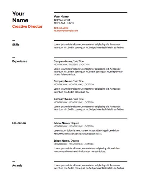 Resume Template Doc by 5 Docs Resume Templates And How To Use Them The