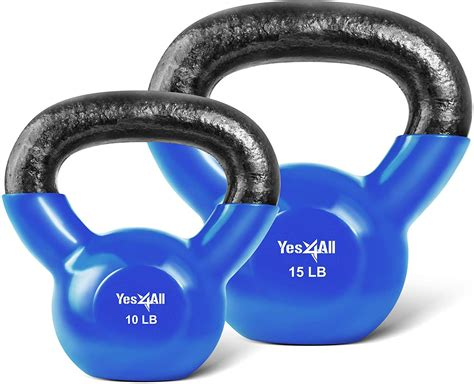 kettlebell weight exercises yes4all coated combo