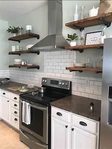 set of 3 12 depth open kitchen shelves 2048