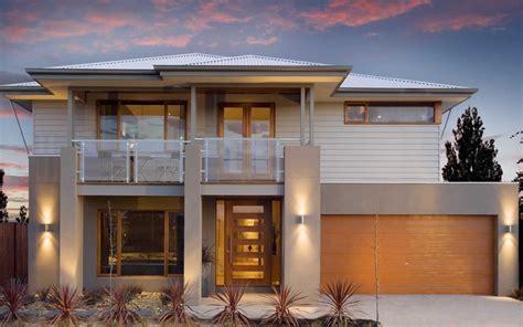 double story facade   home design floor plans