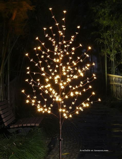 outdoor led trees lighted outdoor decorations and ideas