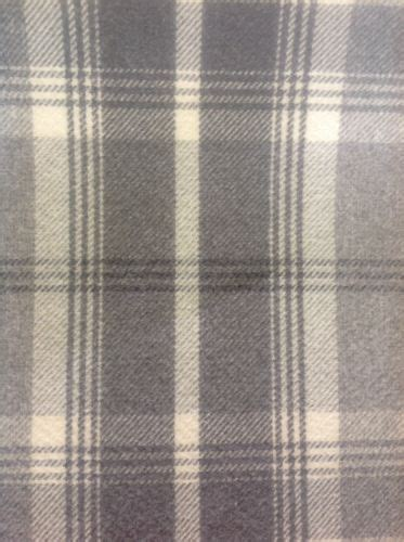 balmoral tartan large check by the meter in grey and white