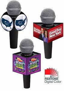 digital printed microphone flag artwork specs With mic flag template