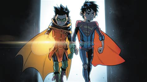 Robin And Superboy Full Hd Wallpaper And Background Image
