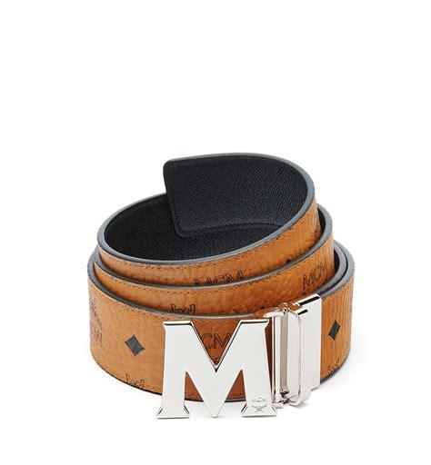 m designer belt mcm claus reversible belt 1 8 quot in brown for lyst